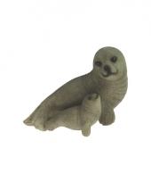 Decoratie beeldje zeehondje 11 cm 10068997