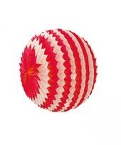 Decoratie bol rood wit