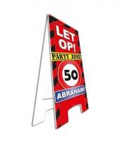 Decoratie bord 50 jaar abraham