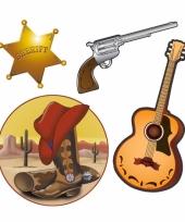 Decoratie cowboy pakket