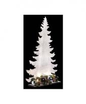 Decoratie kerstboom wit 39 cm