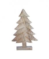 Decoratie kerstboompje natuur hout 10067908