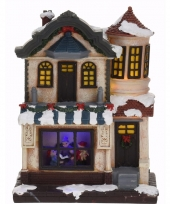 Decoratie kersthuisje met led licht type 2