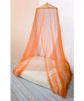 Decoratie klamboe oranje 2 persoons muskietennet