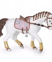 Decoratie paard met gevlochten manen plastic 14 5 cm