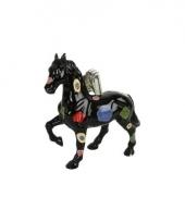 Decoratie paard spaarpot zwart