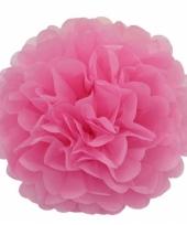 Decoratie pompom lichtroze 25 cm