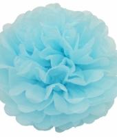 Decoratie pompom turquoise 25 cm