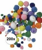 Decoratie pompons om mee te rijgen 200 stuks