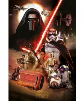 Decoratie poster star wars episode 7 61 x 91 5 cm