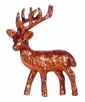 Decoratie rendier oranje 10 cm