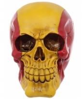 Decoratie schedel rood geel