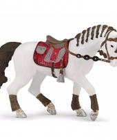 Decoratie trendy paarden plastic 14 5 cm