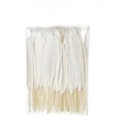 Decoratie veren wit 100 stuks13 cm