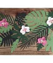 Decoratie versiering orchidee blaadjes 6 stuks