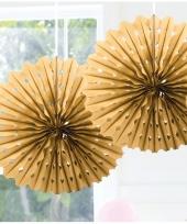 Decoratie waaiers goud 45 cm