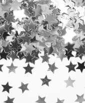 Decoratie zilveren sterretjes confetti zakje 10135716