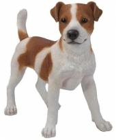 Decoratiebeeld staande jack russel hond 35 cm