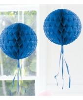 Decoratiebollen blauw 30 cm