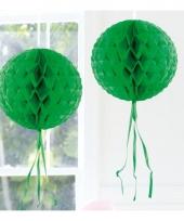 Decoratiebollen donker groen 30 cm