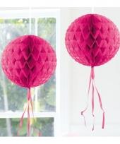 Decoratiebollen fel roze 30 cm