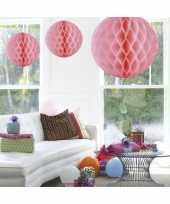 Decoratiebollen licht roze 50 cm