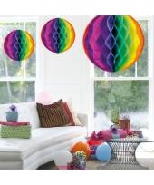 Decoratiebollen regenboog 50 cm