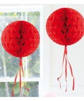 Decoratiebollen rood 30 cm