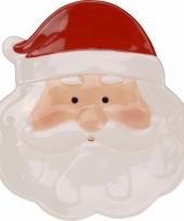 Decoratiebord kerstman 24 cm