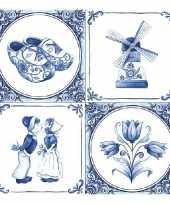Delfts blauwe servetten 40x