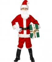 Deluxe kerstman kinder kostuum