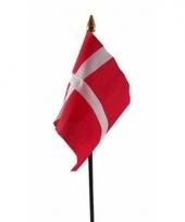 Denemarken luxe zwaaivlaggetje polyester