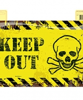 Deurbordje keep out doodshoofd