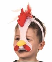 Diadeem hanen masker met geluid