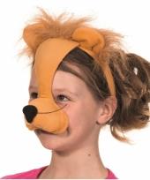 Diadeem leeuwen masker met geluid