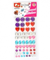 Diamanten stickertjes in zak