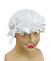 Dienstmeisje wit mutsje met strik