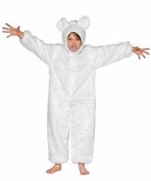 Dieren carnavalskleding ijsbeer kid