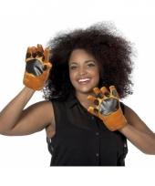 Dieren handschoenen hond voor volwassenen