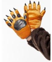 Dieren handschoenen leeuw voor volwassenen