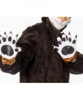 Dieren handschoenen tijger voor volwassenen