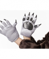 Dieren handschoenen wolf voor volwassenen