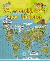 Dieren leren wereldkaart voor kinderen 140 x 95 cm