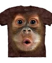 Dieren shirts aap voor kids
