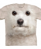 Dieren shirts bichon frise wit kind