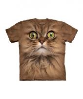 Dieren shirts bruine kat