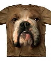 Dieren shirts bulldog bruin