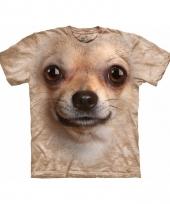 Dieren shirts chihuahua voor volwassenen