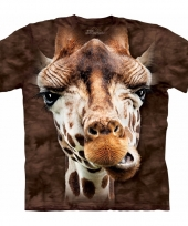 Dieren shirts giraf bruin