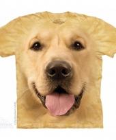 Dieren shirts golden retriever hond voor volwassenen